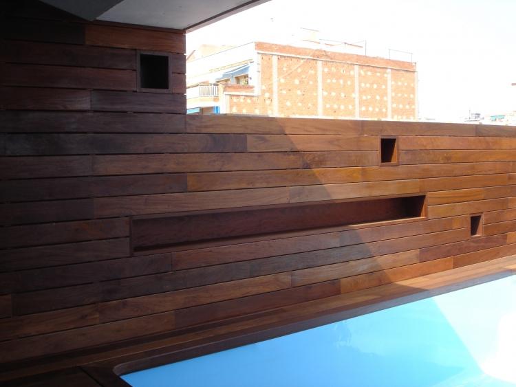 Tarima exterior de madera bdr especialistas en parket - Madera machihembrada exterior ...